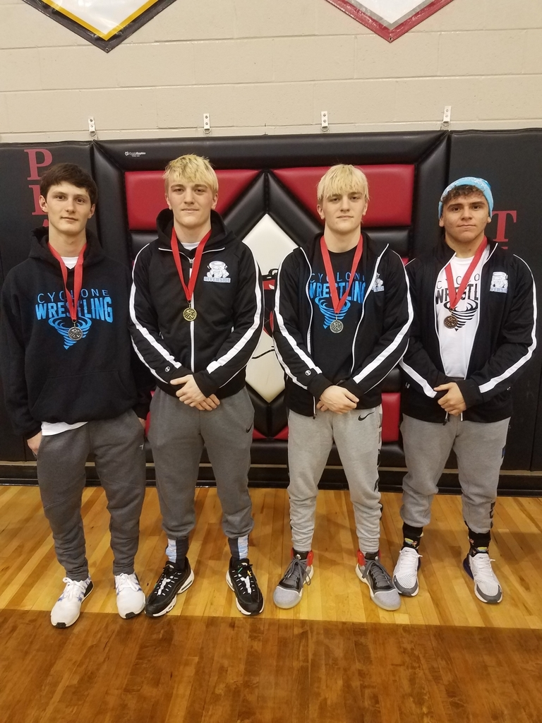 Congratulations to the following wrestlers for placing at the Plattsburg Tournament. Luke Horn - 1st, Conner Hayes and Beau Horn - 2nd, and Quenton Barron 3rd.
